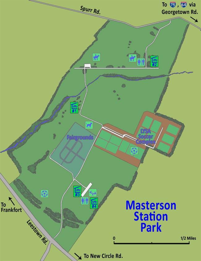 Masterson Station Park map | City of Lexington